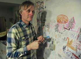 Michael T. Hensley in his studio.