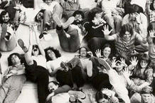 """""""Museum Art School Students and Faculty in the Portland Art Museum's Sculpture Court."""" Circa 1970-1975."""