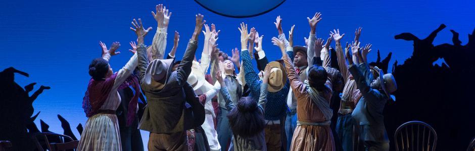 "Cast of Oregon Shakespeare Festival's ""Oklahoma,"" 2018. Courtesy of Oregon Shakespeare Festival."