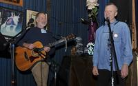 Jon Broderick and Jay Speakman perform at the Voodoo Lounge during the Fisherpoets Gathering.